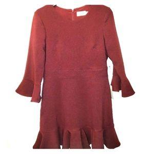 Eliza J Wine Bell Sleeve Dress